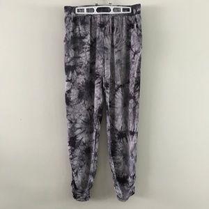 Forever 21 Purple Tie Dye Bohemian Pants L